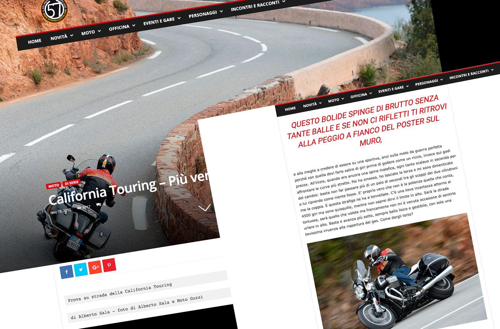 alberto sala writer articolo Moto Guzzi California 1400